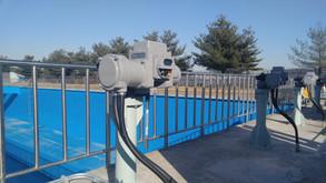 MHP Quarter-Turn Actuator in Water Treatment Sedimentation Basin