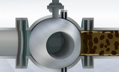 3D Model of Sludge passing Ball Valve