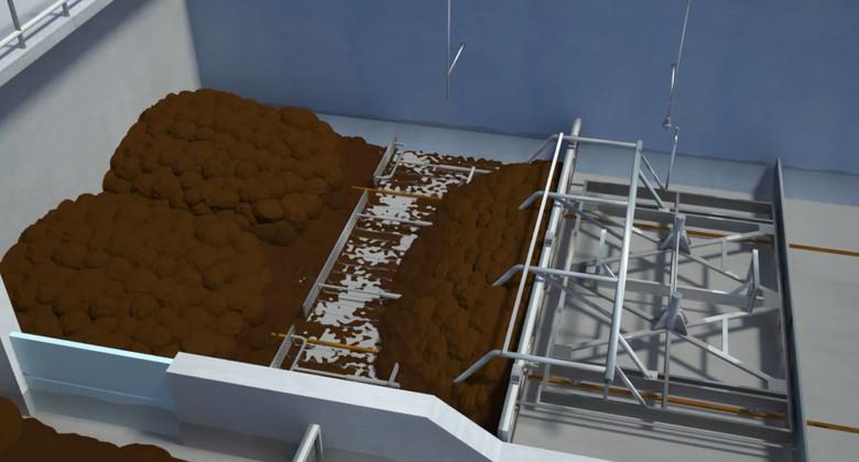 3D Model of Sludge Drainage System: Auxiliary Scraper