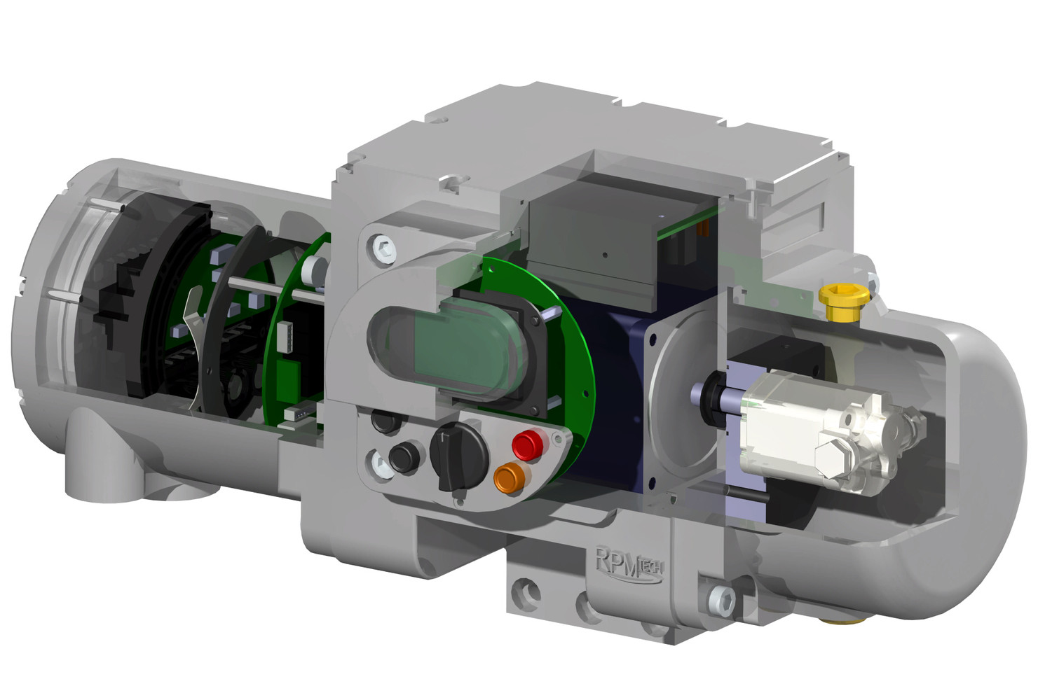 Sliced View of MHP (Micro Hydraulic Power-pack)