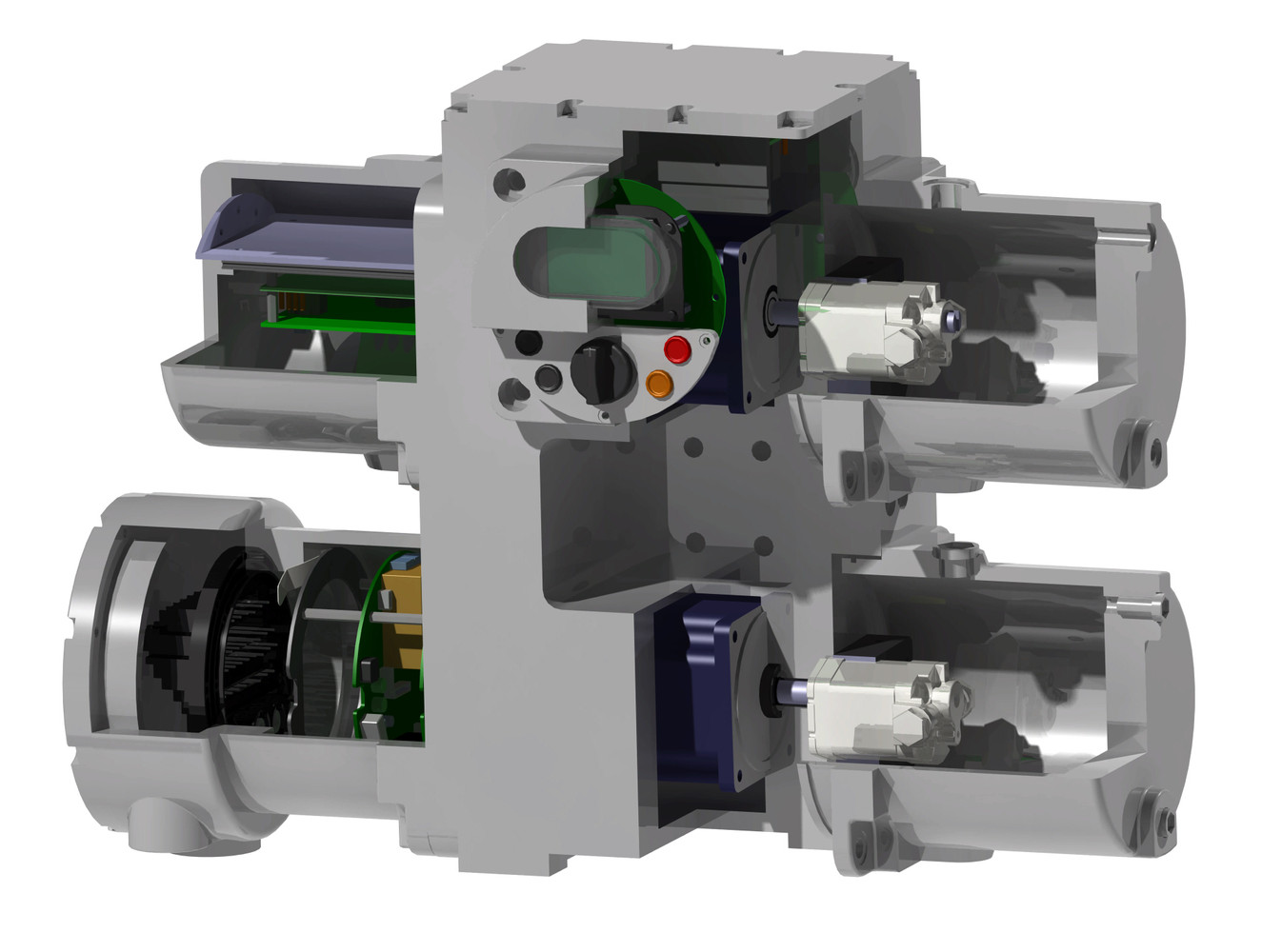 Sliced View of DHP (Dual Hydrualic Power-pack)