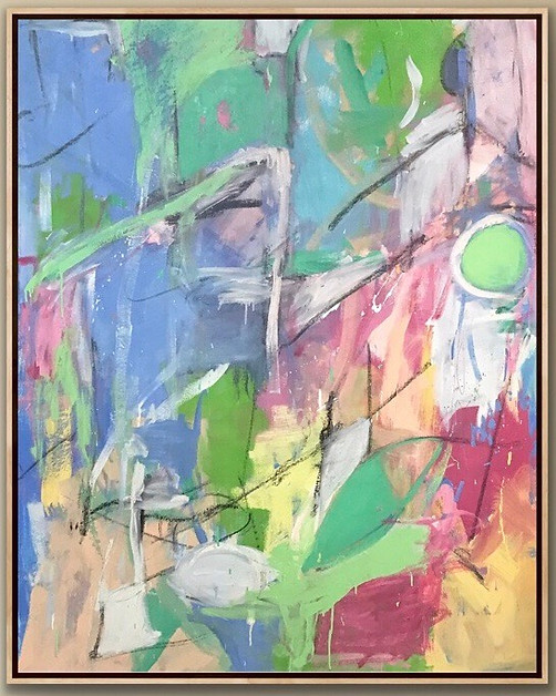 """Oil On Canvas 58"""" x 46"""" Touch To Open Installation Image"""