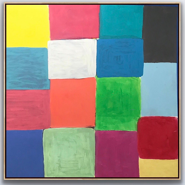 """Oil on Canvas 66"""" x 64"""" Touch To Open Installation Image"""