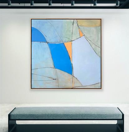 "Oil on Canvas 62"" x 62"""