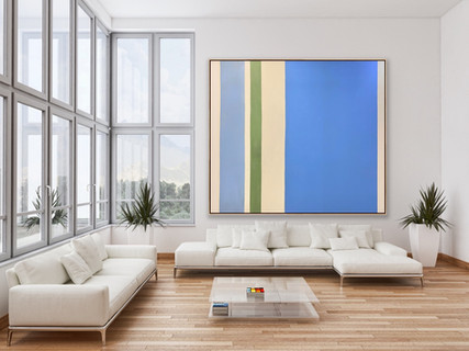 "Oil On Canvas 96"" x 84"""
