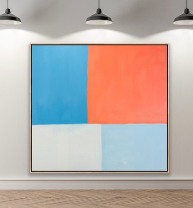 "Oil On Canvas 72"" x 68"""
