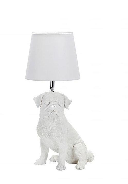 מנורת שולחן לבנה