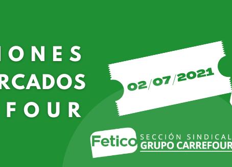 La Confederación Sindical Independiente Fetico sigue siendo la referencia en Carrefour