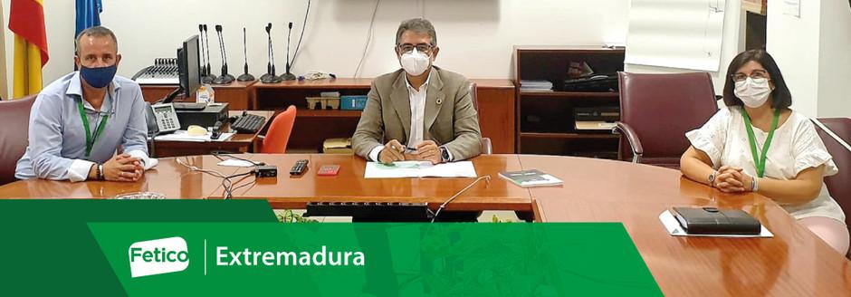 Fetico se reúne con la Junta de Extremadura
