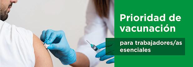 Fetico solicita que se considere la vacuna como medida preventiva para trabajadores/as esenciales
