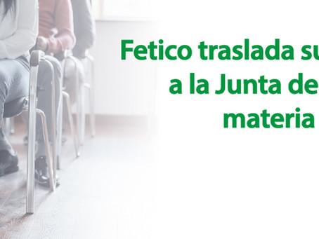 Fetico traslada sus propuestas a la Junta de Andalucía en materia de formación