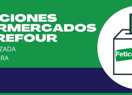 Resultado Elecciones Hipermercados Carrefour La Calzada y La Sierra
