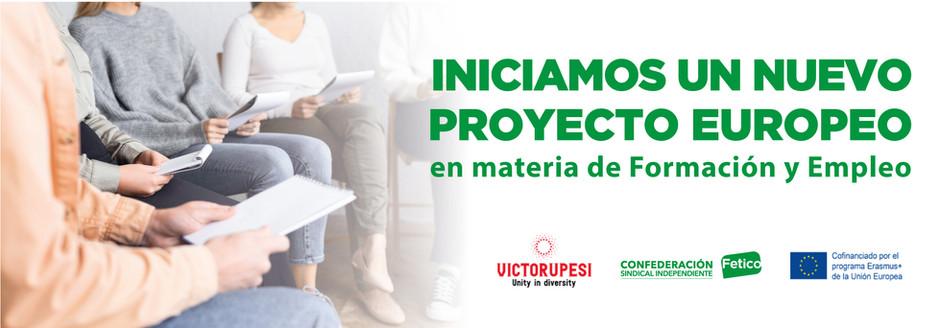 Iniciamos un nuevo proyecto europeo en materia de Formación y Empleo