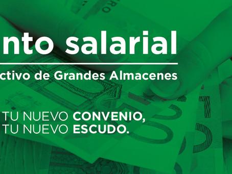 Vídeo explicativo: Aumento salarial en el Convenio Colectivo de Grandes Almacenes