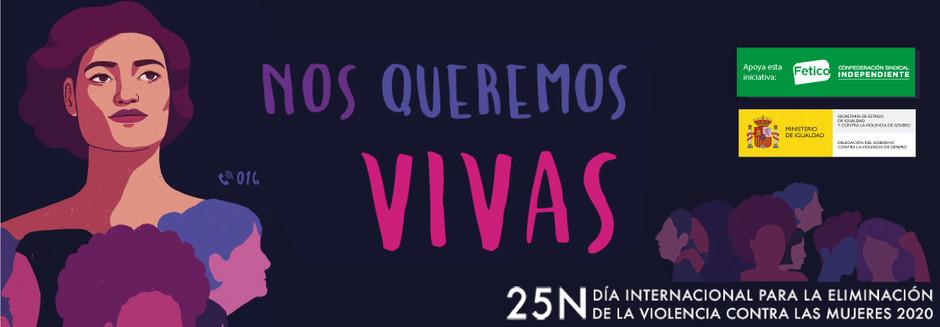 25N- Día Internacional para la Eliminación de la Violencia contra las Mujeres 2020