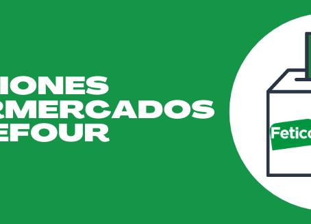 FETICO sigue consiguiendo buenos resultados en las Elecciones Celebradas en Supermercados Carrefour