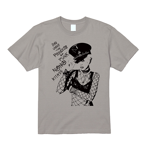 T-SHIRT『BORN UNDER THE PRINCESS OF PUNK』(LIGHT GRAY/M)