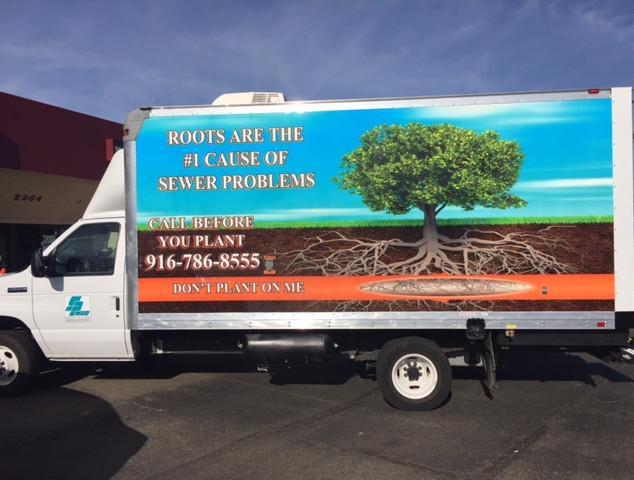 SPMUD box truck wrap