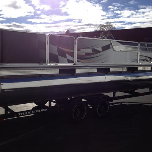 Patio Boat Wrap