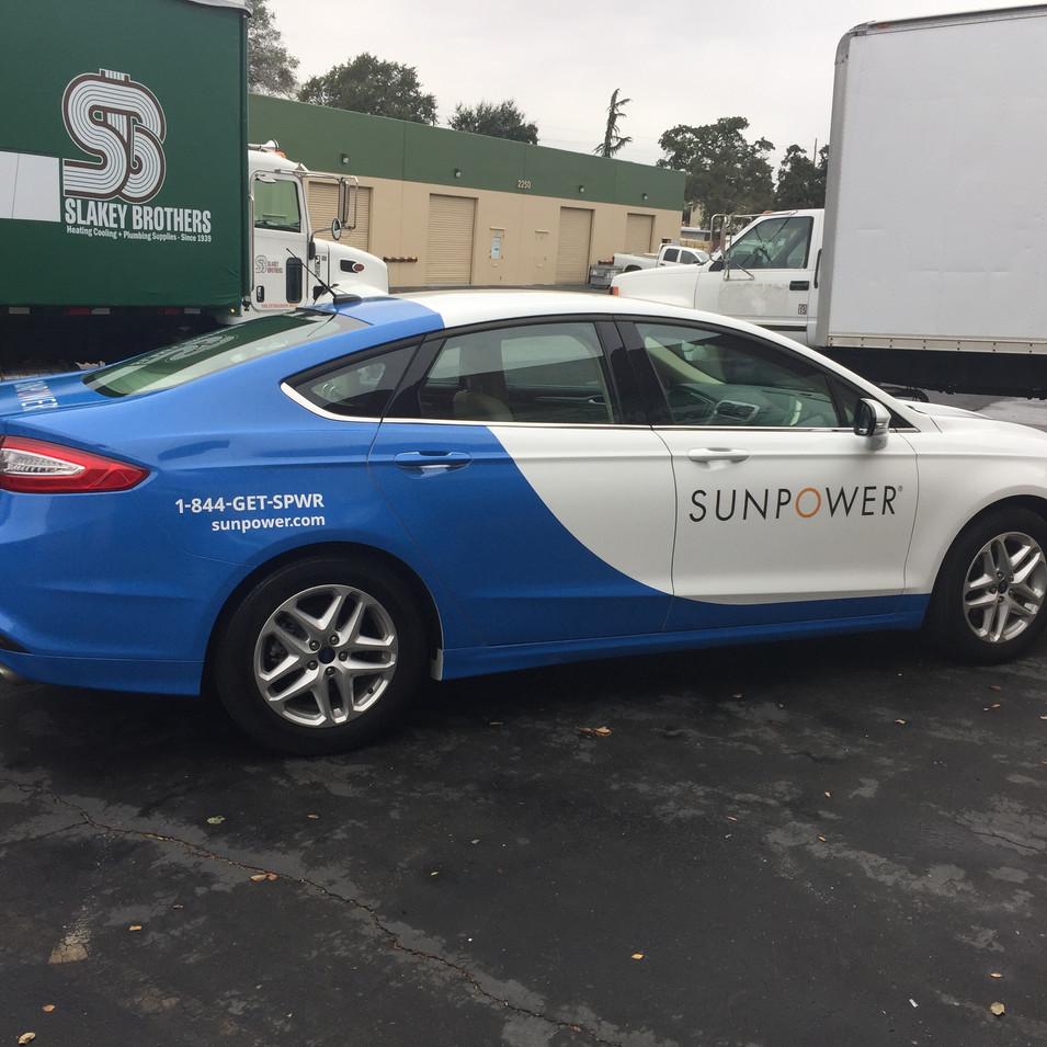 Sunpower Car Wrap