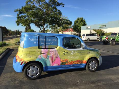 Roseville Dentist Car Wrap