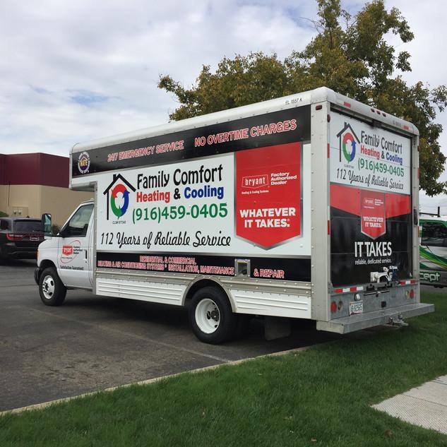 Family Comfort Box Truck Wrap