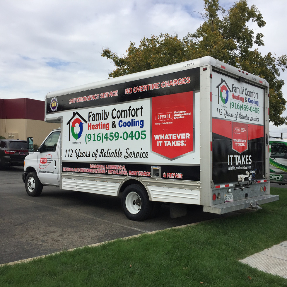 Family Comfort Box Truck Wrap