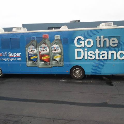 Bus Wrap for Mobil Oil