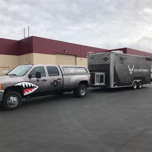 US Air Force Truck & Traailer Wrapp