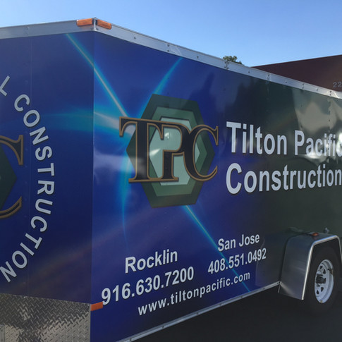 Enclosed trailer Wrap for Tilton Pacific Construction