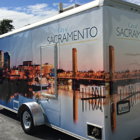 Enclosed Trailer for the City of Sacrmento