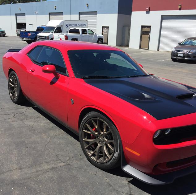 Dodge Challenger Hood Wrap