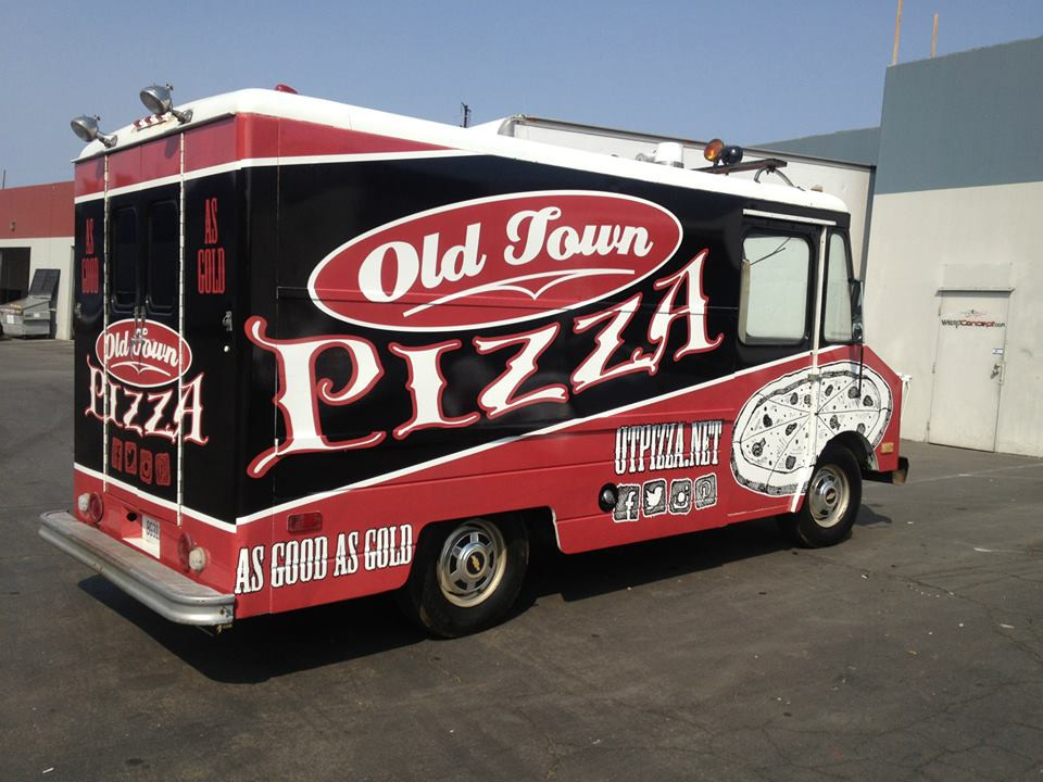 Old Town Pizza Box Truck Wrap