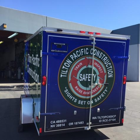 Enclosed trailer Wrap for Tilton Pacific Construction