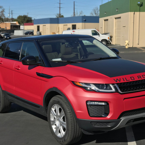 Range Rover Evoque Color change from white