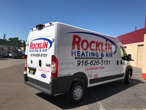 Rocklin Heat & Air Van Wrap