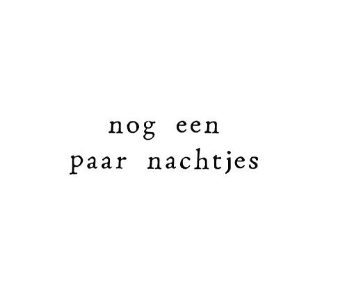 IKPAKJEIN (NL) - Postcard Nog een paar nachtjes