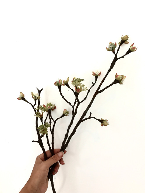 Silk ka flowers berry spray maple green 112 cm these flowers made of silk are made for life mightylinksfo
