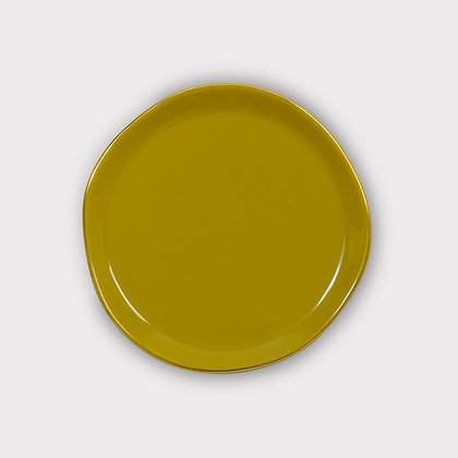 URBAN NATURE CULTURE -  plate Good Morning Amber green