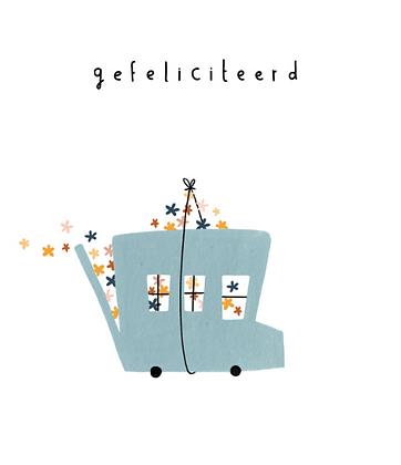 KLEIN LIEFS (NL) - Postcard Gefeliciteerd