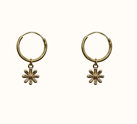 A LA -  Tiny daisy pair of earrings