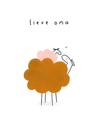 KLEIN LIEFS (NL) - Postcard Lieve oma