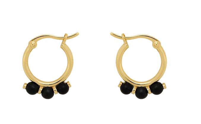 ANNA+NINA - Onyx ring earrings