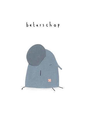 KLEIN LIEFS (NL) - Postcard Beterschap