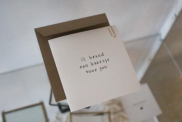 IKPAKJEIN (NL) - Postcard Ik brand een kaarsje voor jou