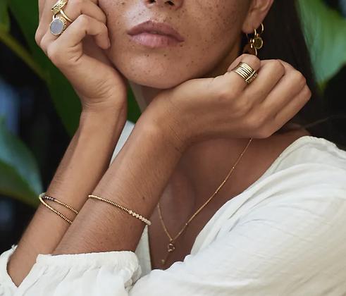 A LA - Stone bracelet peach