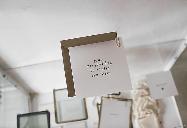 IKPAKJEIN (NL) - Postcard Jouw verjaardag is altijd een feest