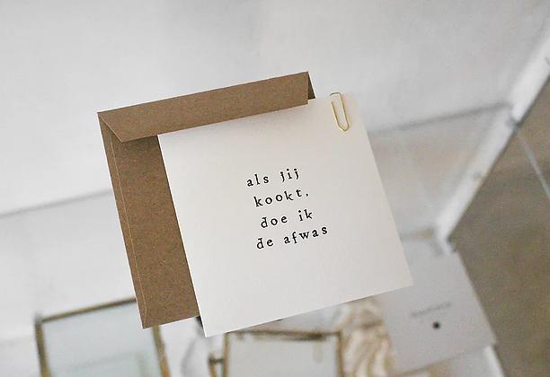 IKPAKJEIN (NL) - Postcard Als jij kookt, doe ik de afwas