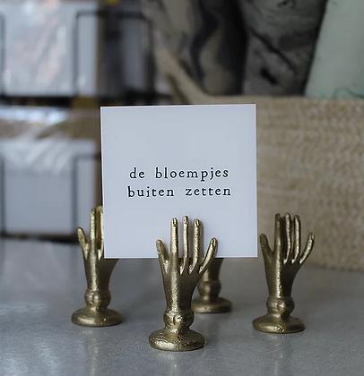 IKPAKJEIN (NL) - Mini Postcard De bloempjes buiten zetten