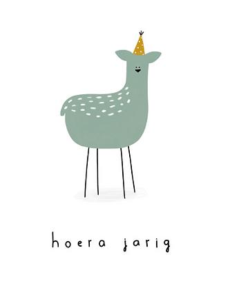 KLEIN LIEFS (NL) - Postcard Hoera jarig